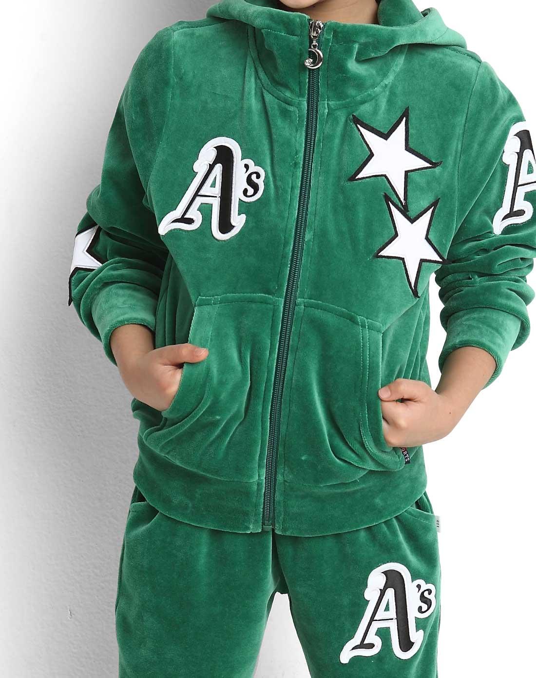 女童绿色儿童运动服