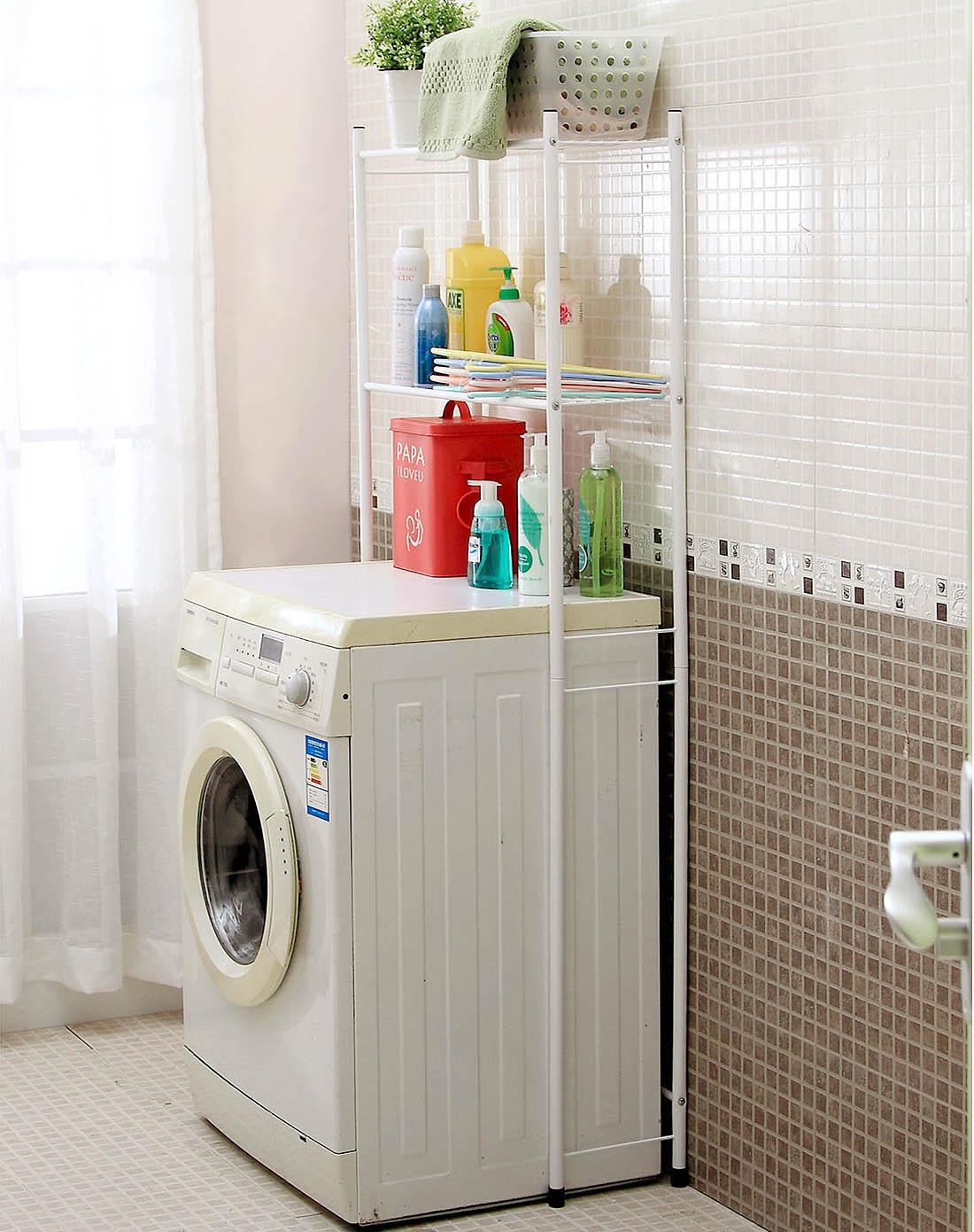 双层洗衣机架马桶架107792