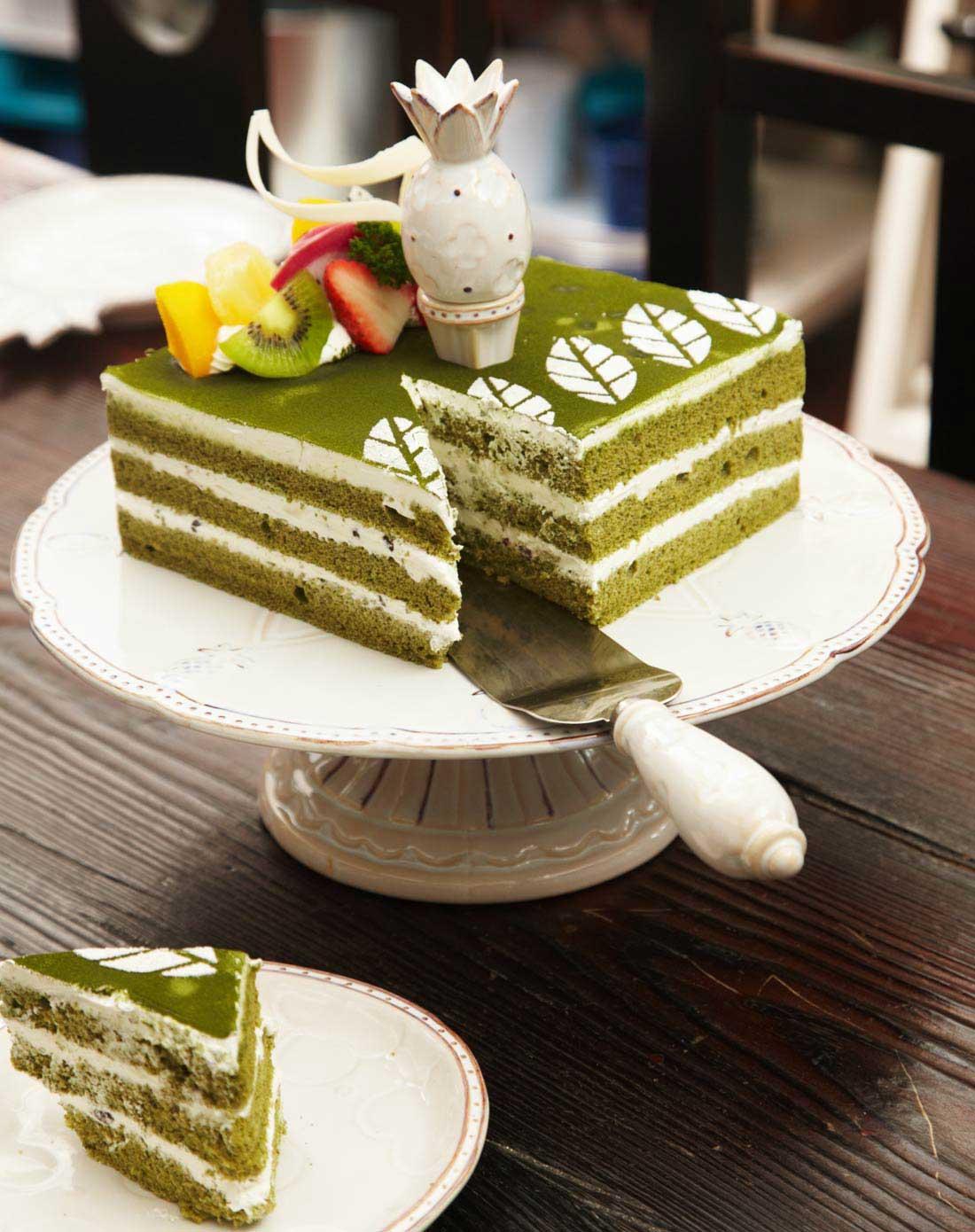 欧式精致陶瓷带盖花瓣装饰蛋糕架(礼盒装)