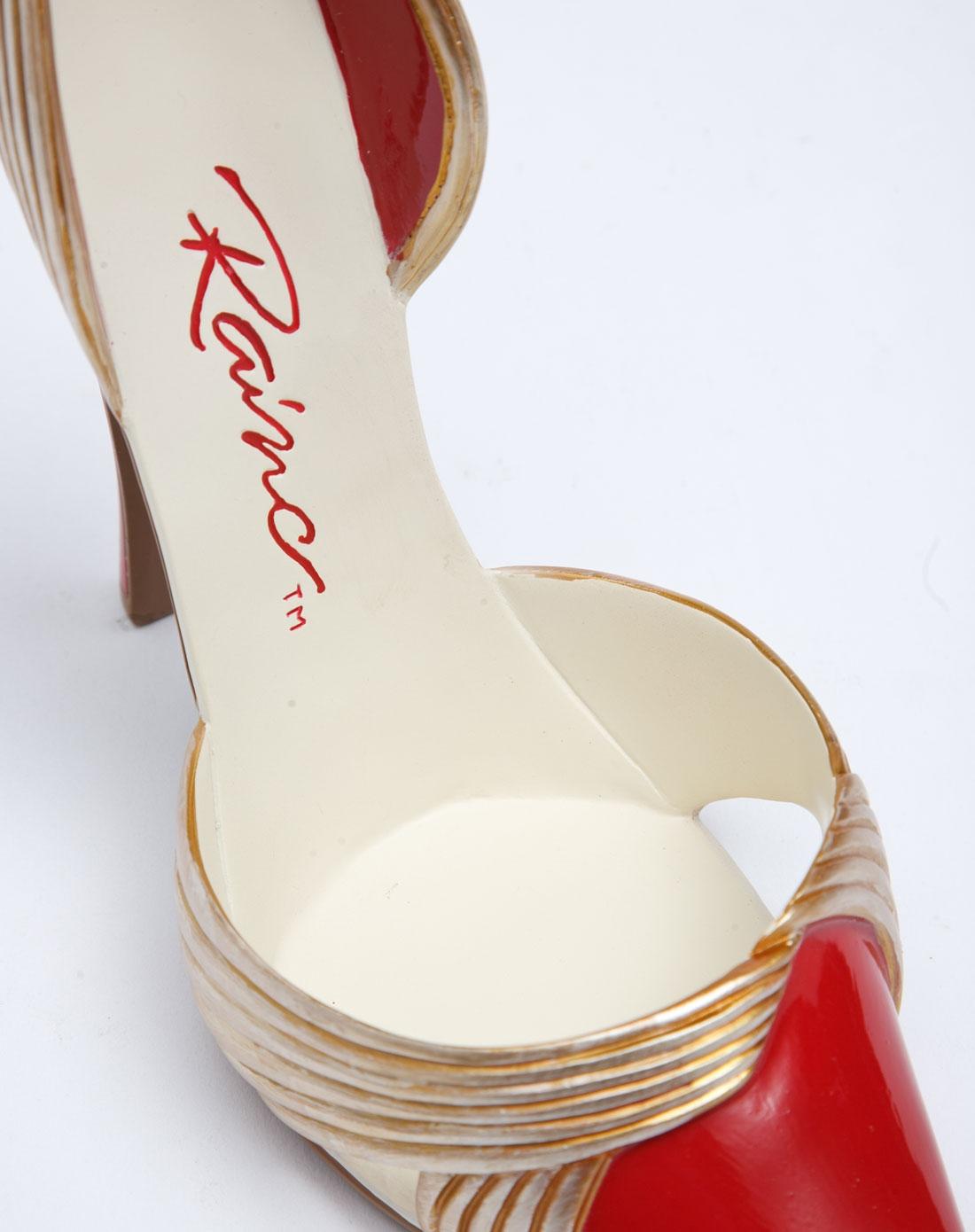> 创意高跟鞋手绘树脂红酒架-镀金时代