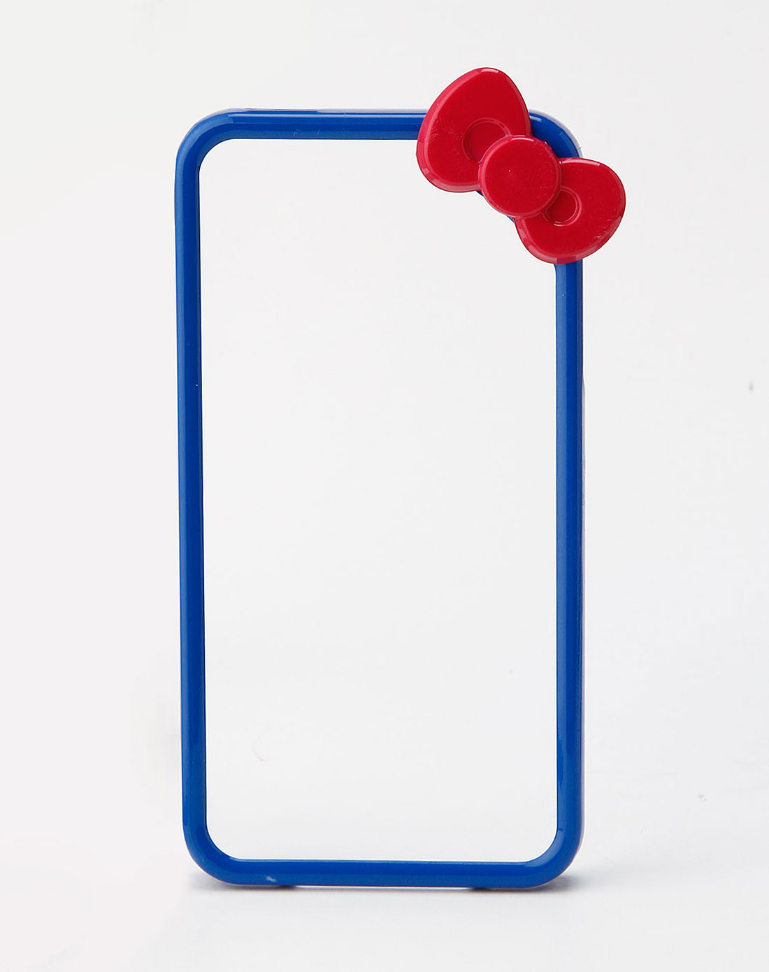 深蓝/枚红色蝴蝶花边框手机壳