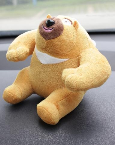 erill/依然 可爱毛绒熊出没吊式炭包(黄)