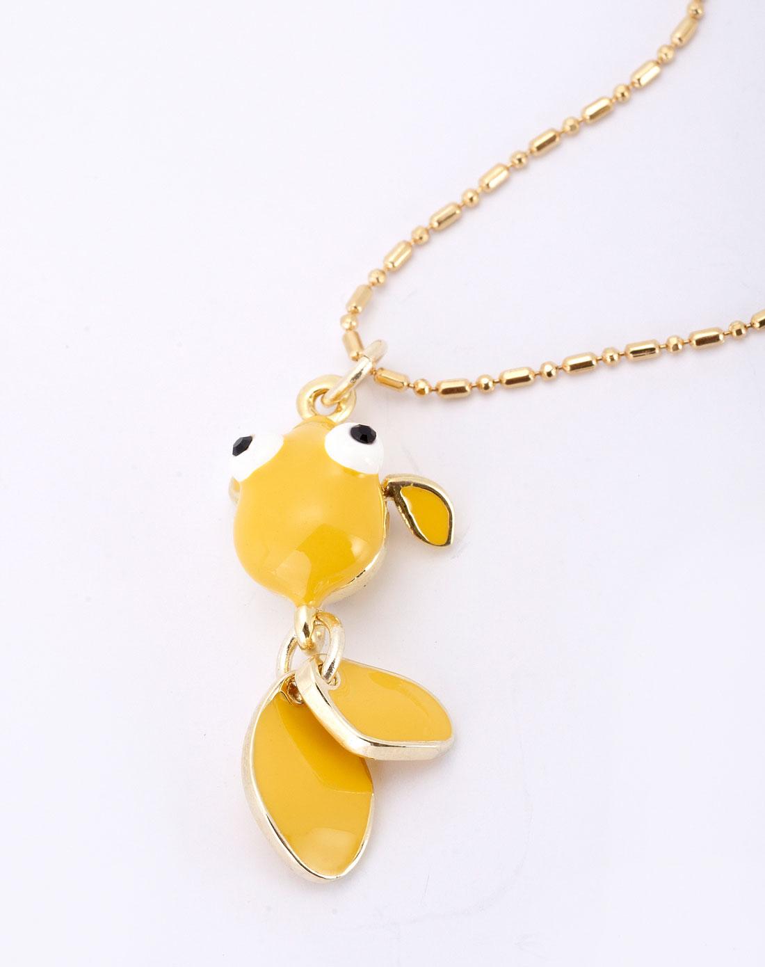 金色甜美可爱小鱼项链