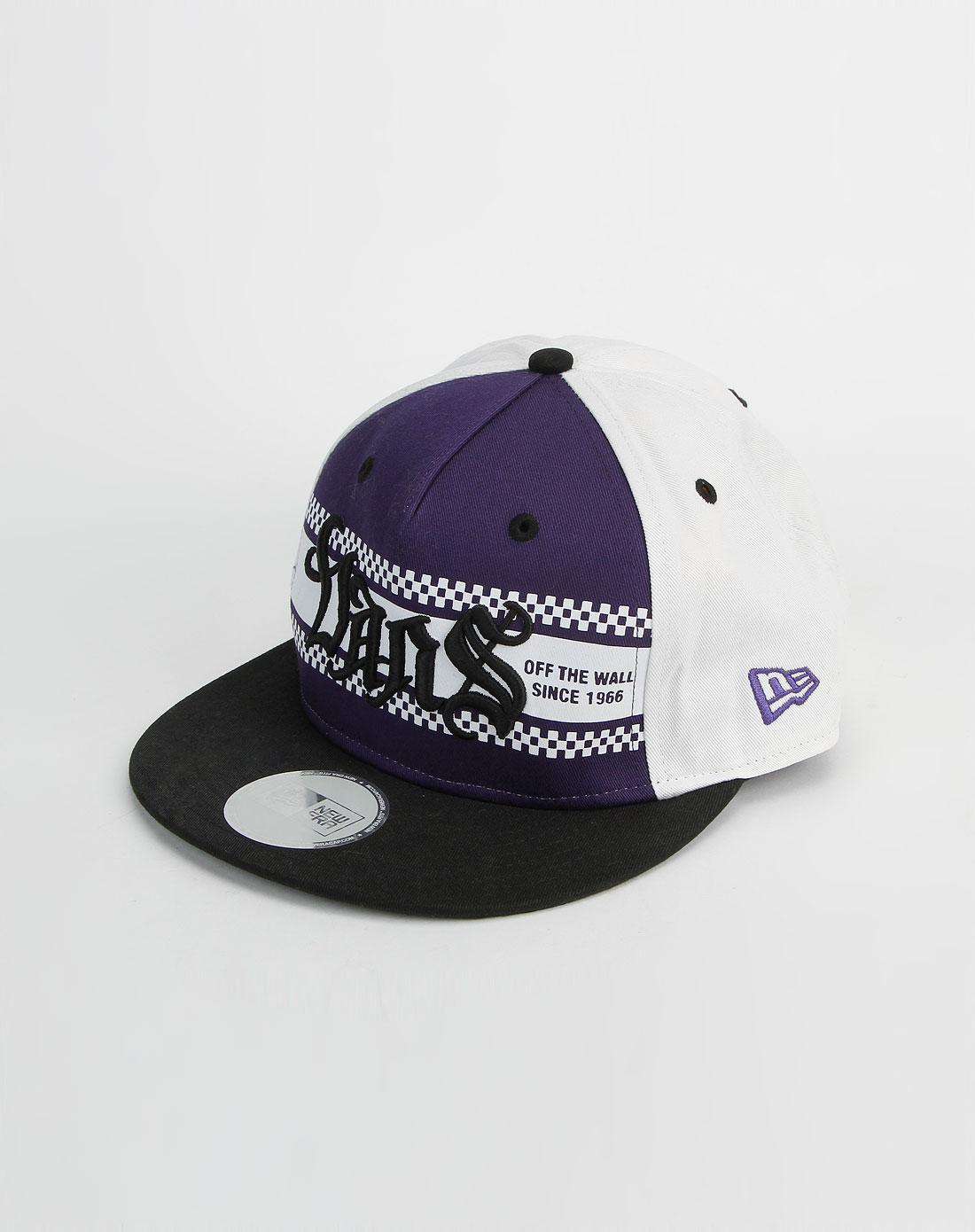 范斯vans男女男款紫/白色鸭舌帽vn-0izgprp