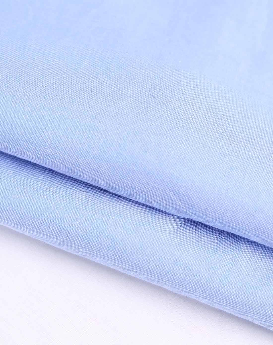 纯色百搭浅蓝色短袖衬衫