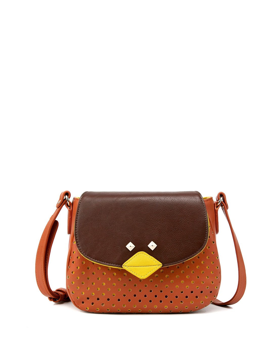翠鸟橘撞色女包小鸟包包潮流时尚可爱甜美斜挎包