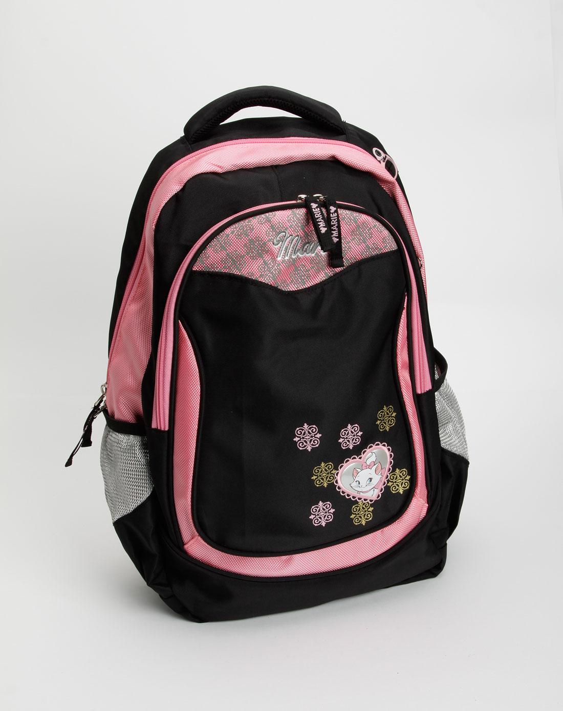卡通书包专场-玛莉猫儿童黑/粉红色背包