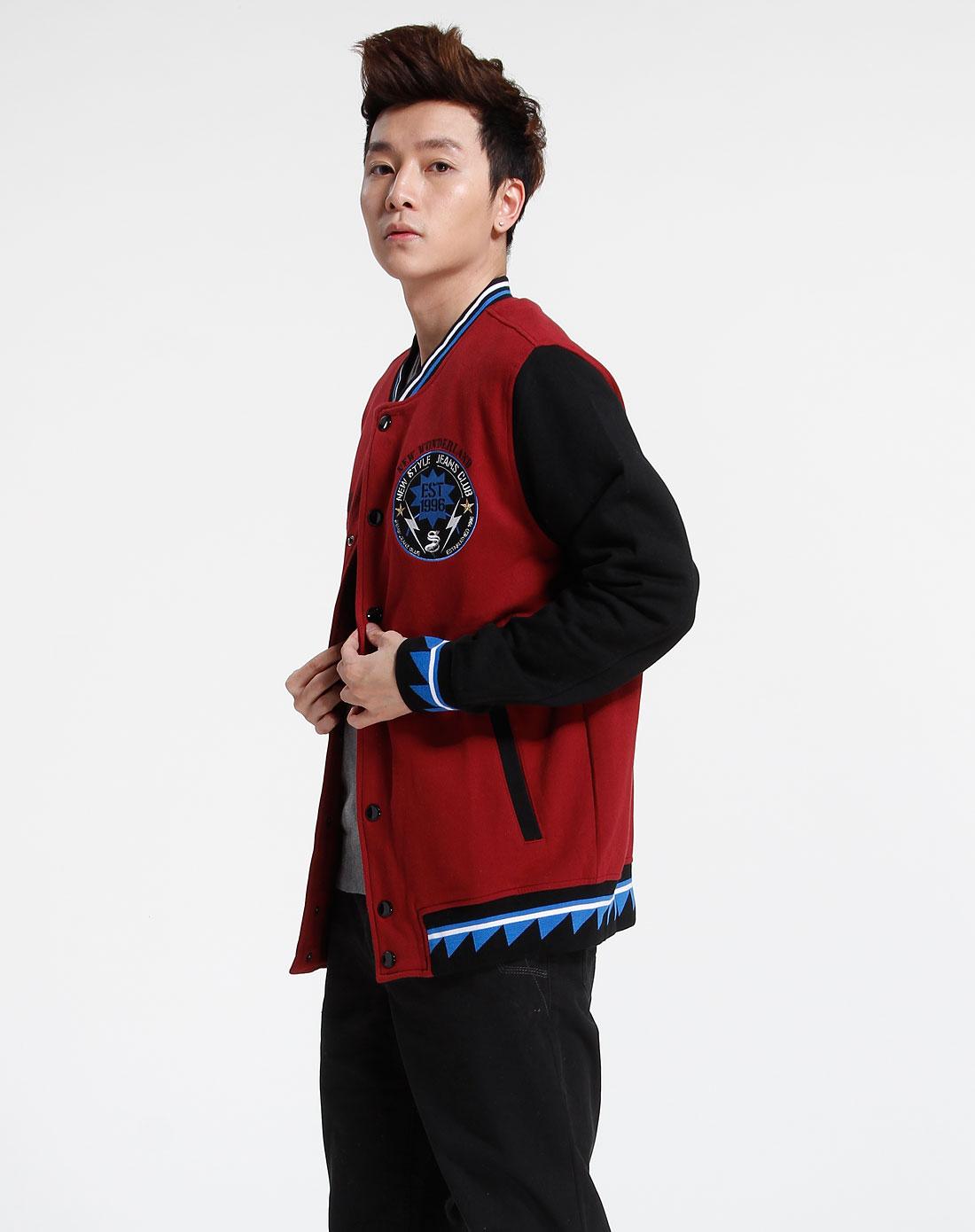 森马-男装暗红色长袖外套10081311119-7440图片