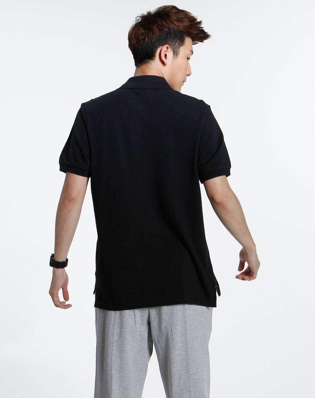 黑色基本系列短袖polo衫