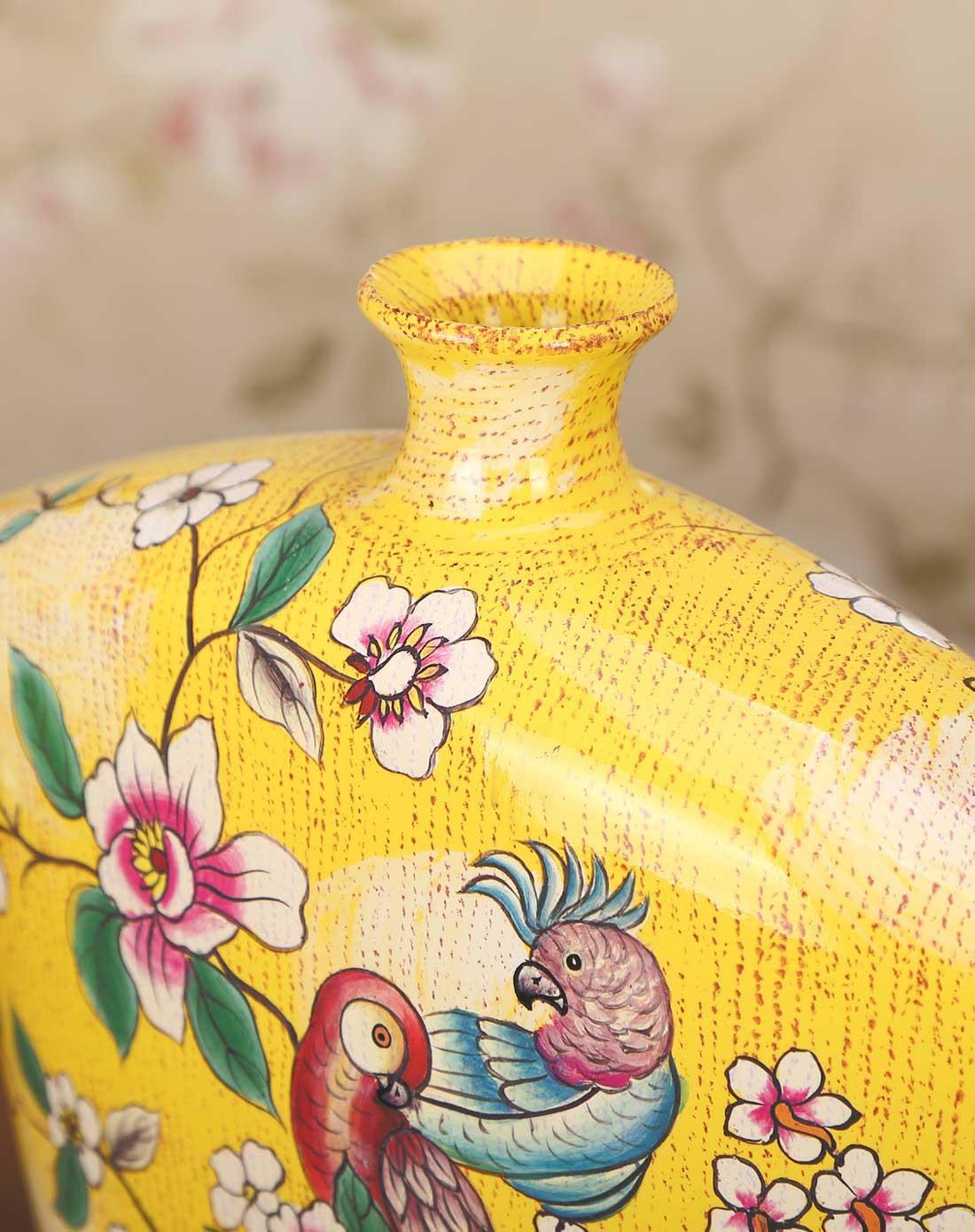 隽美家居用品专场欧式手绘鹦鹉系列摆饰花瓶组合