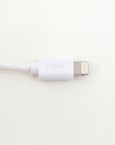 > 原装苹果接头i5充电线/数据线白