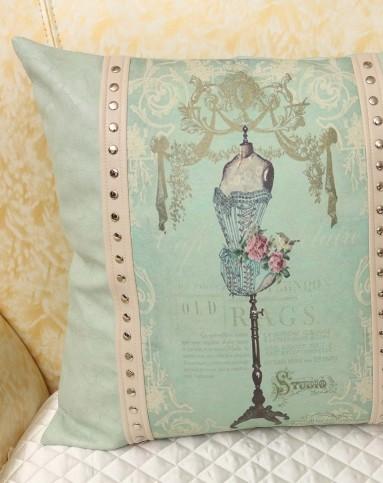 欧式玫瑰庄园抱枕手工刺绣45*45cm