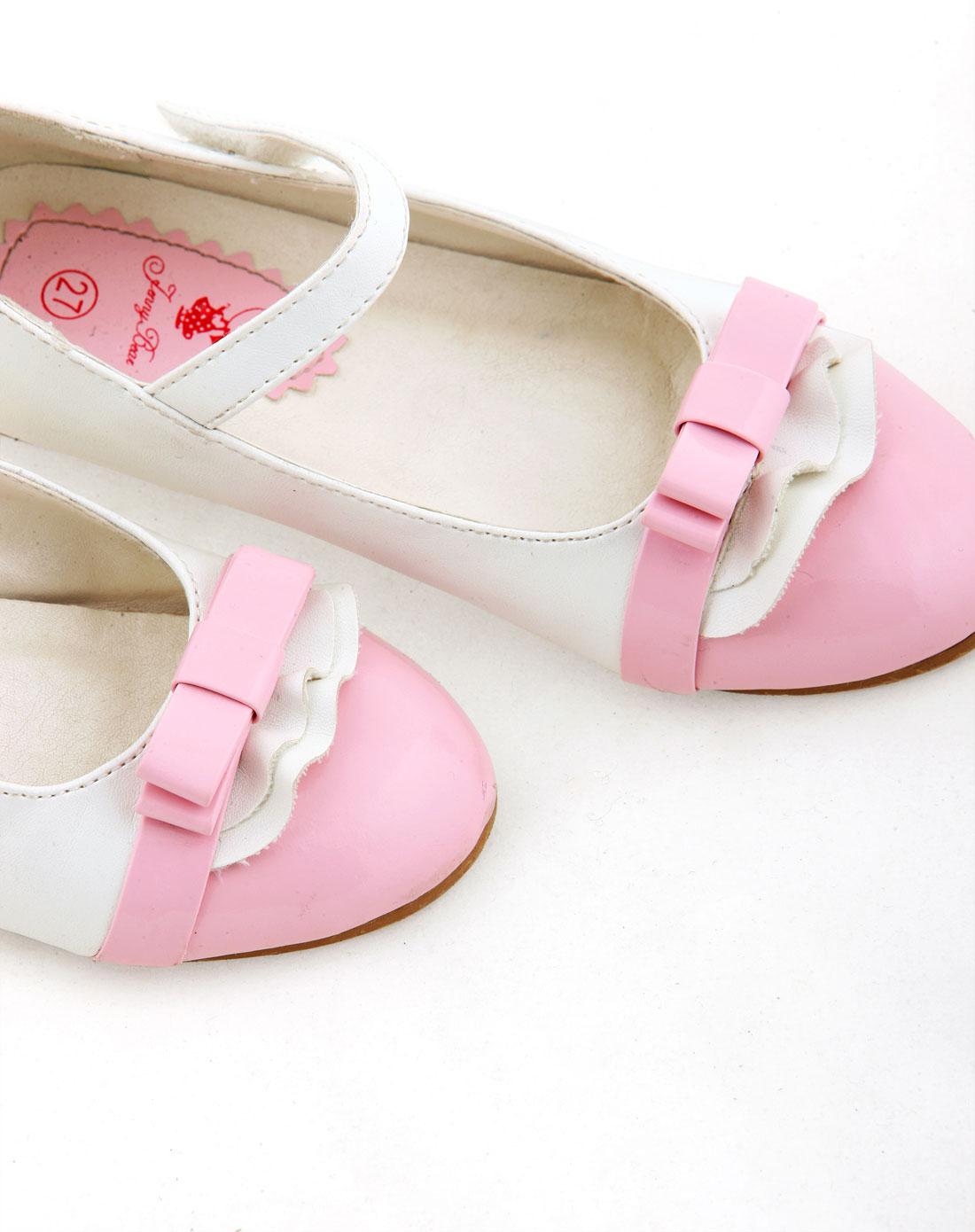 女童粉色可爱竹蜻蜓皮鞋