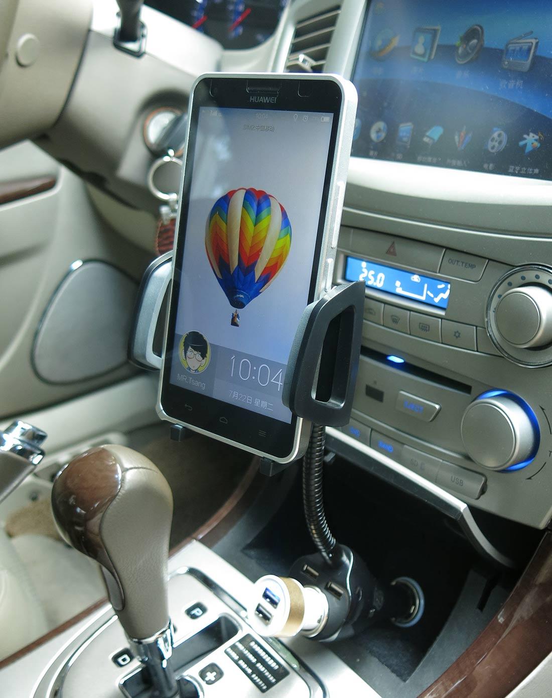 双usb车充 360度旋转手机支架
