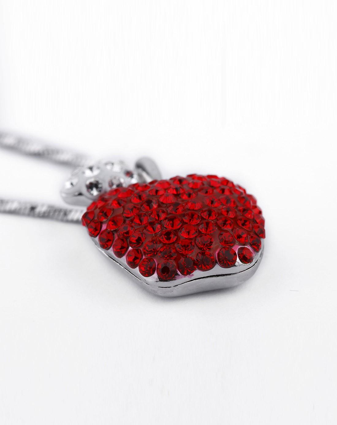 韩国潮流饰品绚丽红色苹果项链
