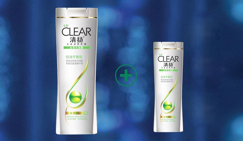 联合利华旗下品牌洗护专场清扬洗发水去屑控油平衡型