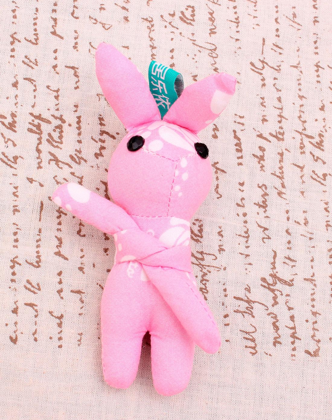 可爱兔兔 粉红花色挂件