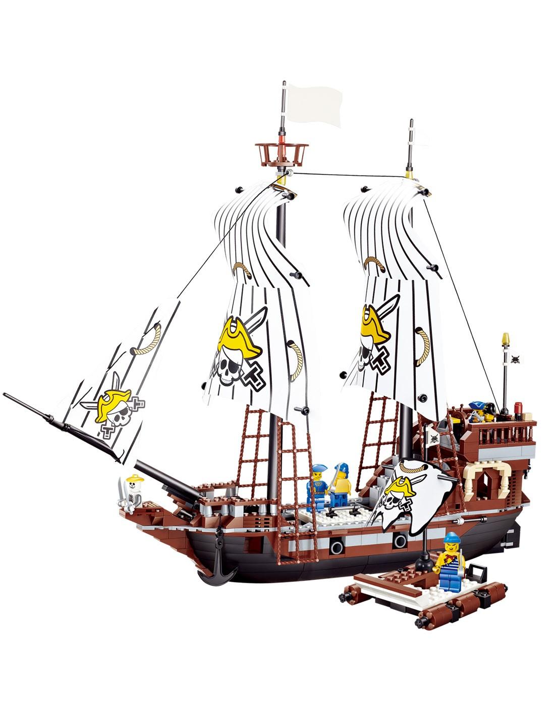 乐高式积木 海盗船黑珍珠号