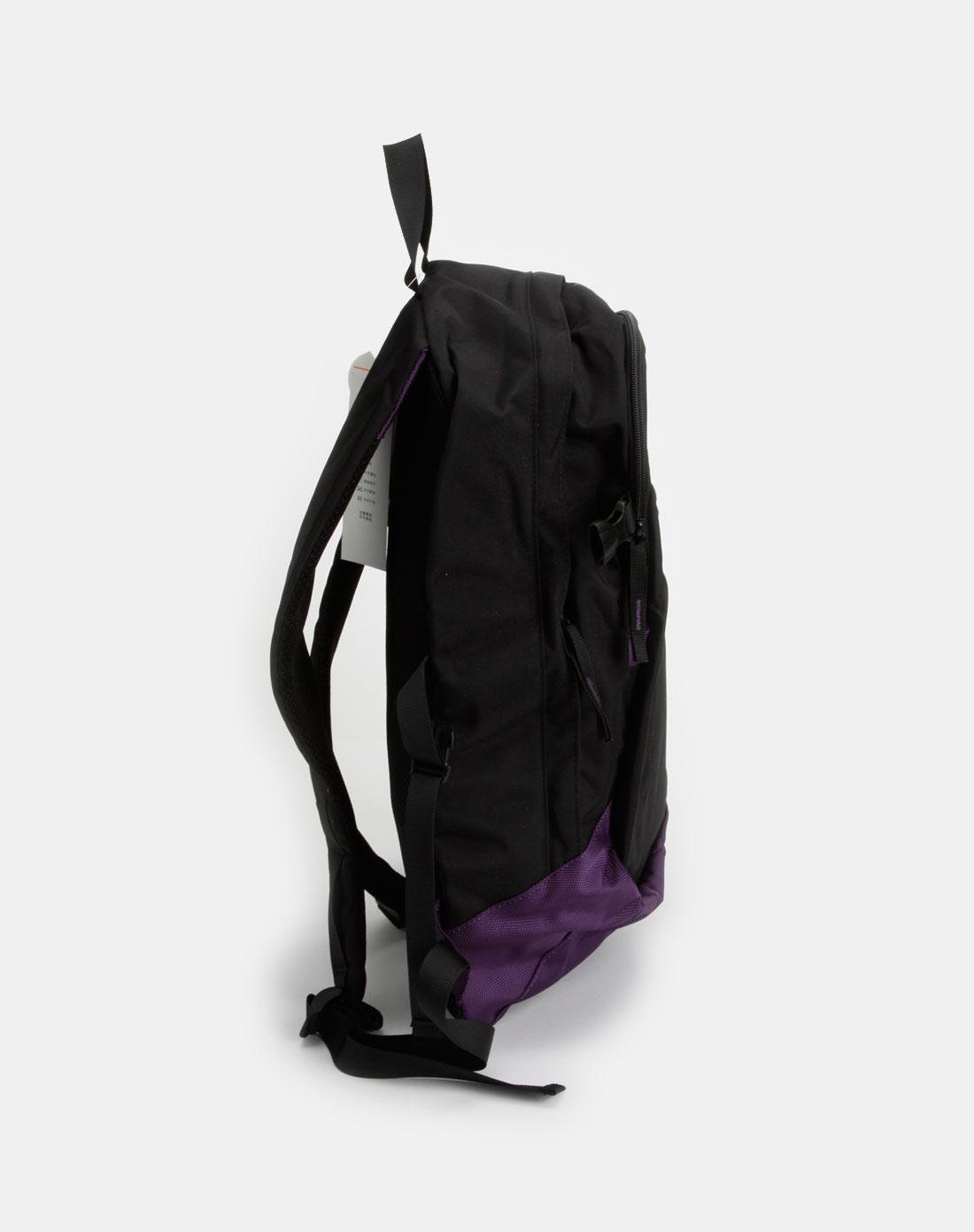 黑/紫色时尚双肩背包图片