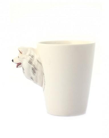 趣玩创意(萨摩耶)纯手绘陶瓷动物杯43349