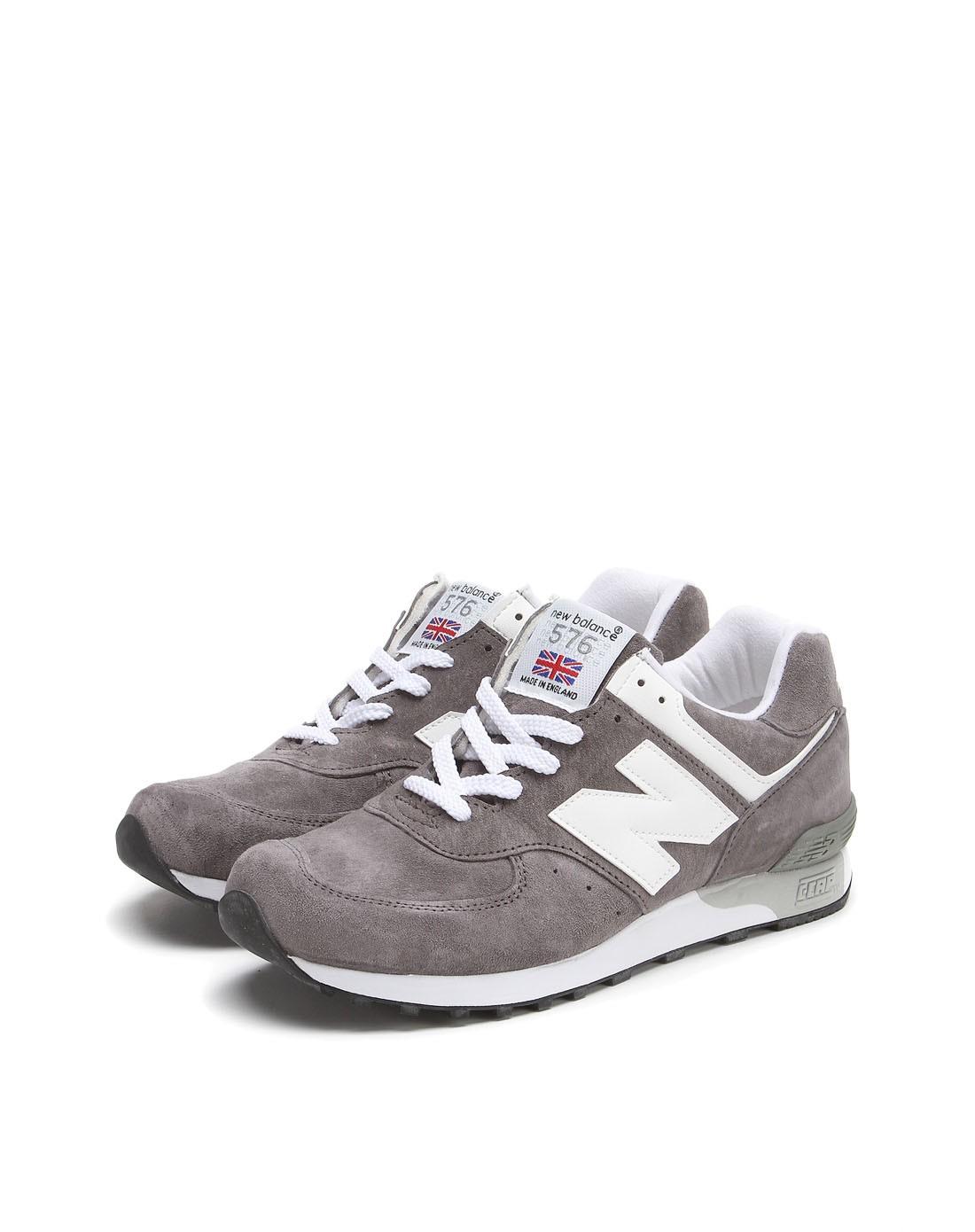 new balance男女鞋混合专场-男款深灰色英产nb576经典绒面复古跑鞋