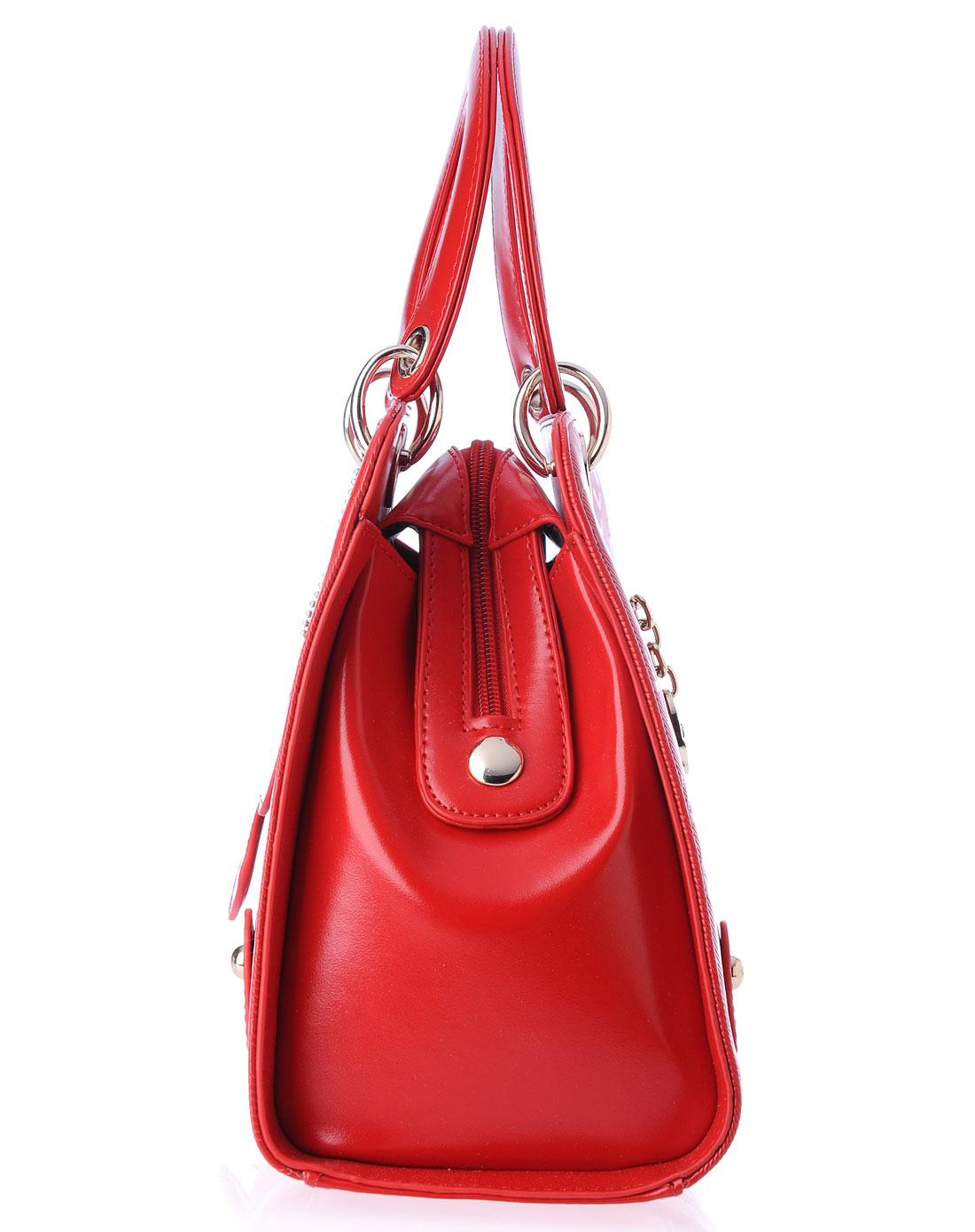 品牌红色女包