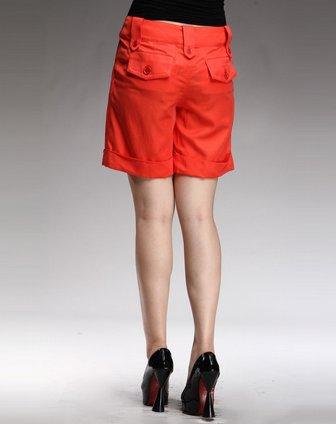 france橘红色休闲短裤fr622t52-03