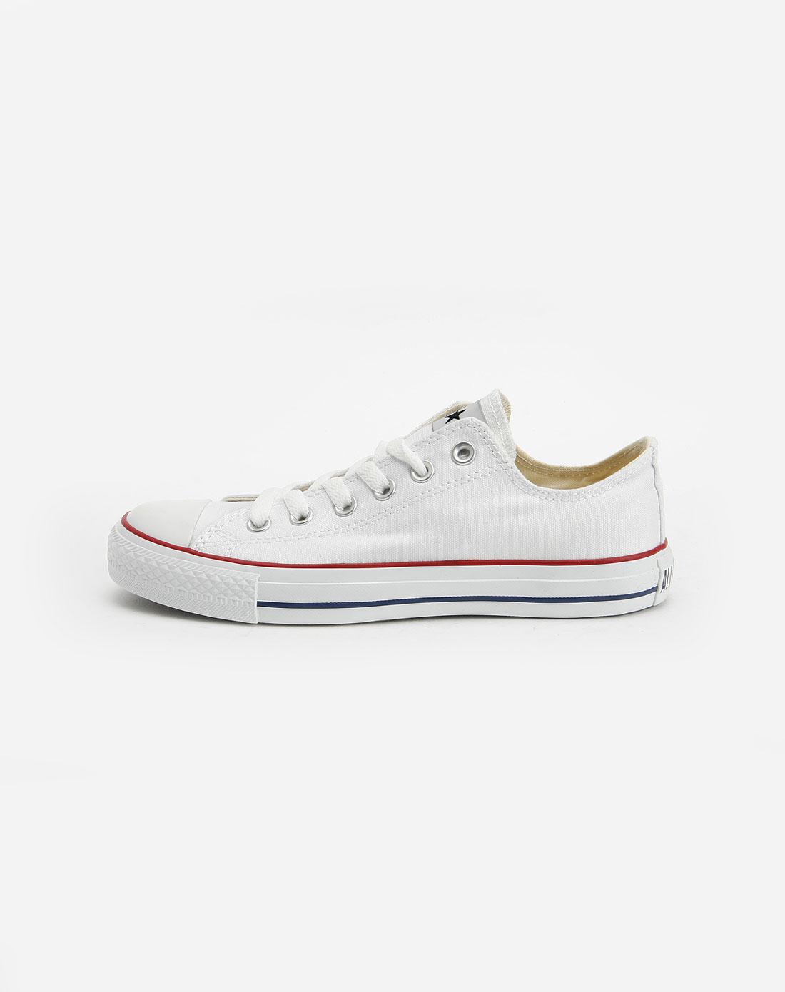运动品牌匡威 中性白色布鞋101000