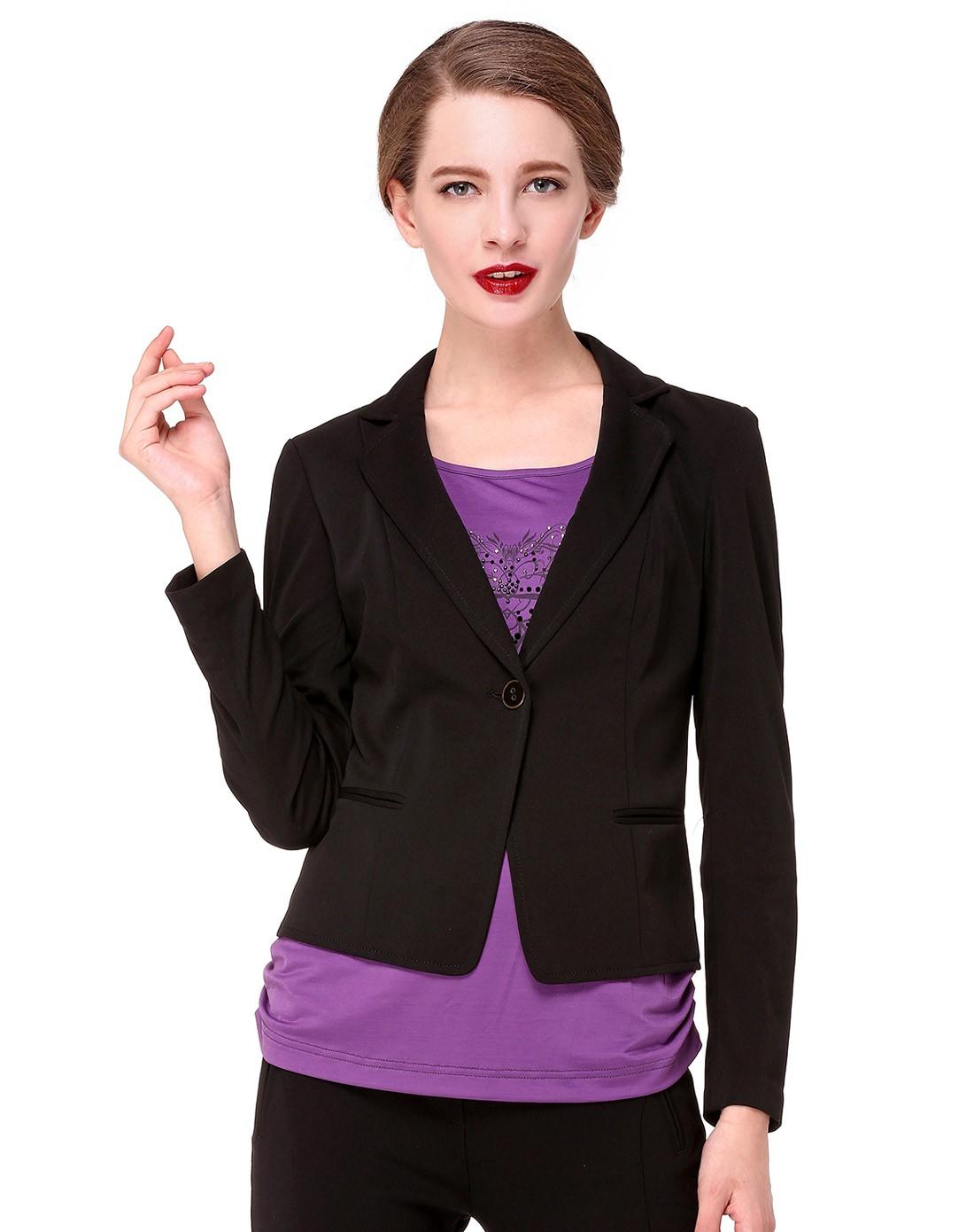 女士黑色西装上衣