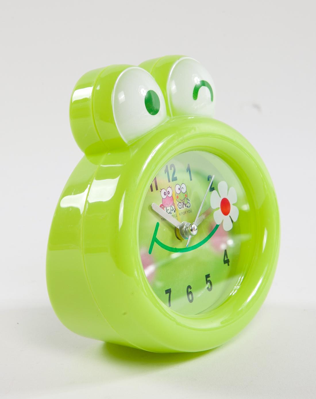h&3绿色卡通可爱闹钟青蛙王子6920120304640