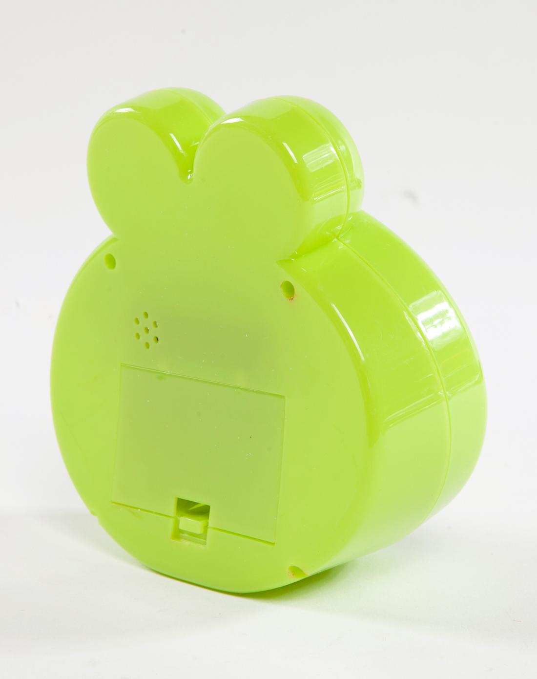 绿色卡通可爱闹钟青蛙王子