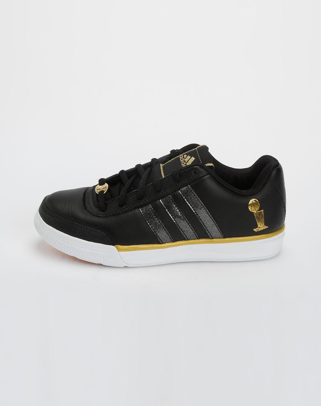 阿迪达斯adidassp 女款黑色个性绑带运动鞋g09104
