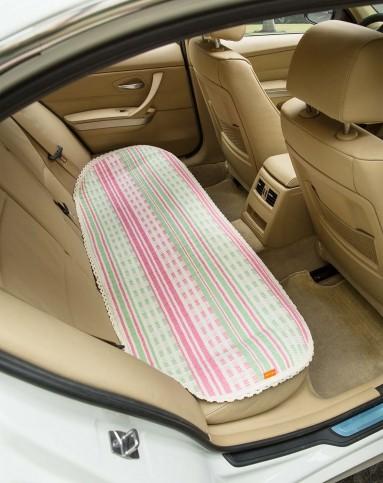 50*135cm高档透气纯棉线编织汽车坐垫 珊瑚幻彩
