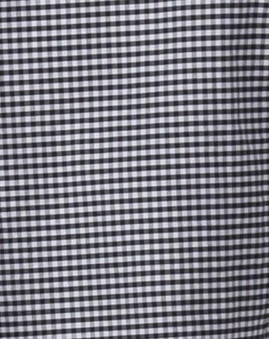 时尚格子黑白色中袖衬衫