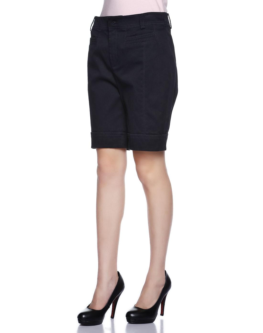 卡利亚里女性深毛蓝分割线短裤