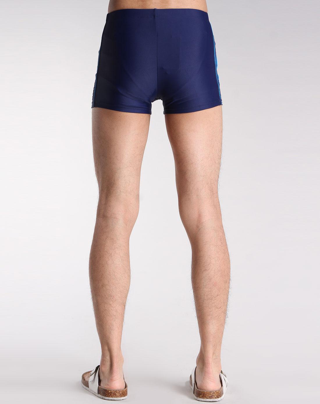 男款深蓝色泳裤