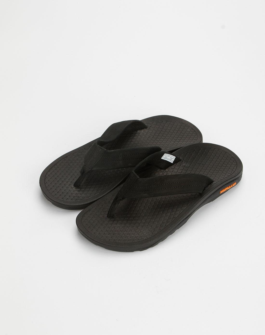 诺诗兰northland专场男款黑色时尚拖鞋fl10502黑色