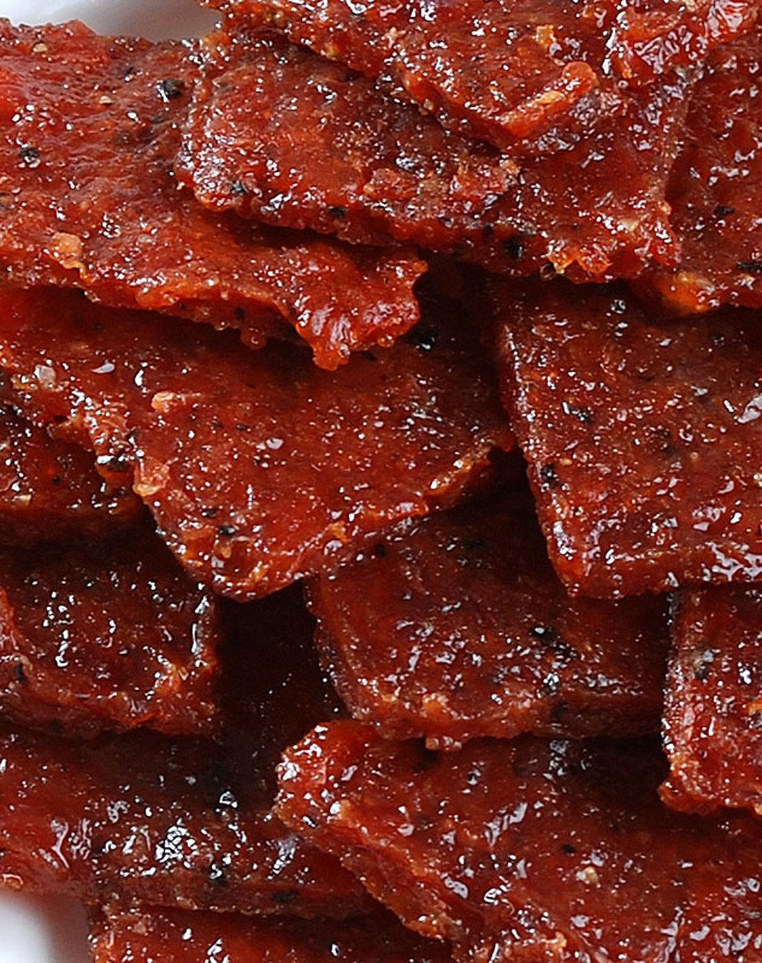 台州英记黑椒猪肉干片250g澳门青蟹v猪肉塘图片