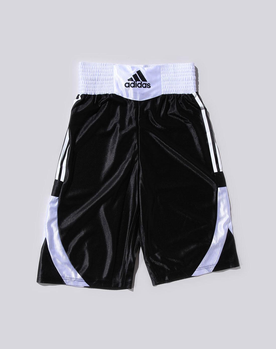 阿迪达斯adidas搏击运动专场-秋季bmi adidas男款黑/白色休闲运动短裤