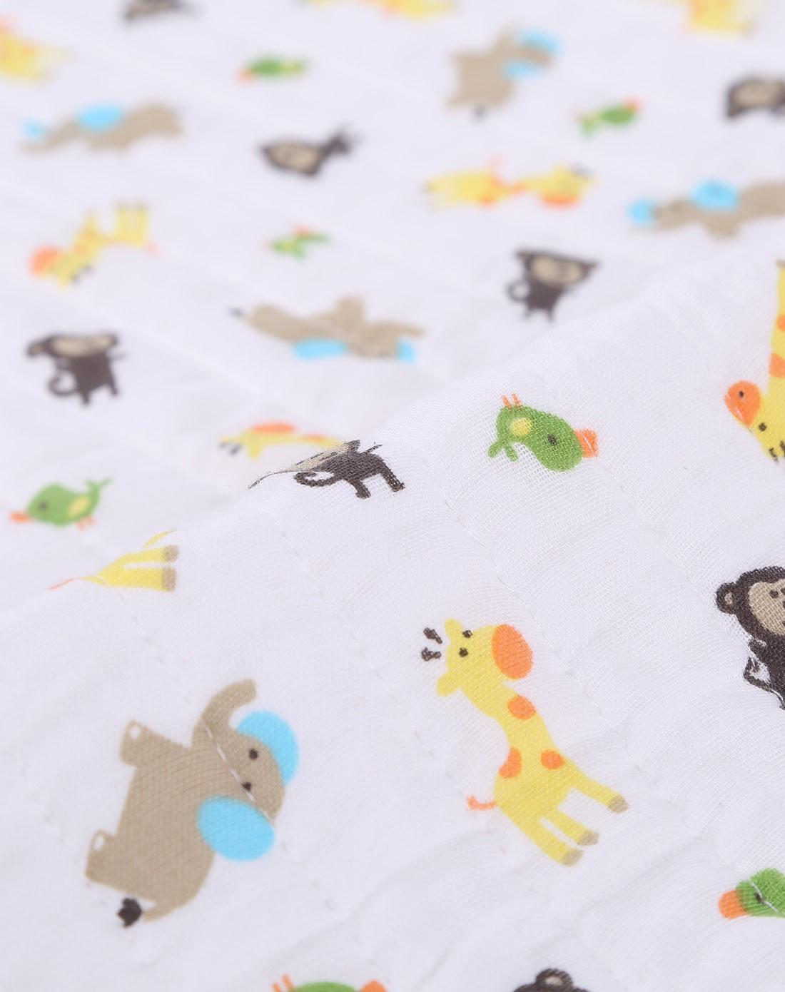 木棉卡通透气隔尿垫 动物派对