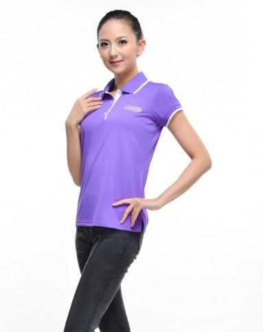 女款紫色高尔夫系列短袖polo衫