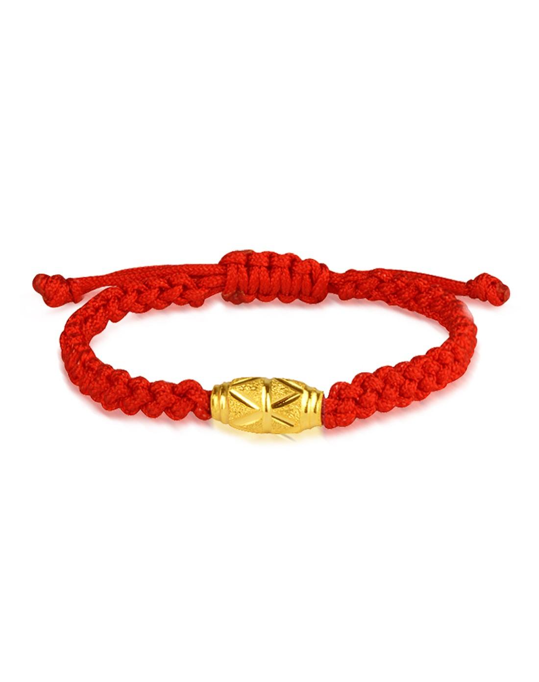 转运珠本命年红绳手链