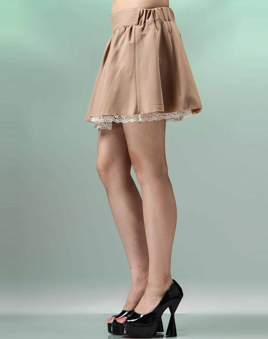 arrio卡其色时尚短裙l1302-74