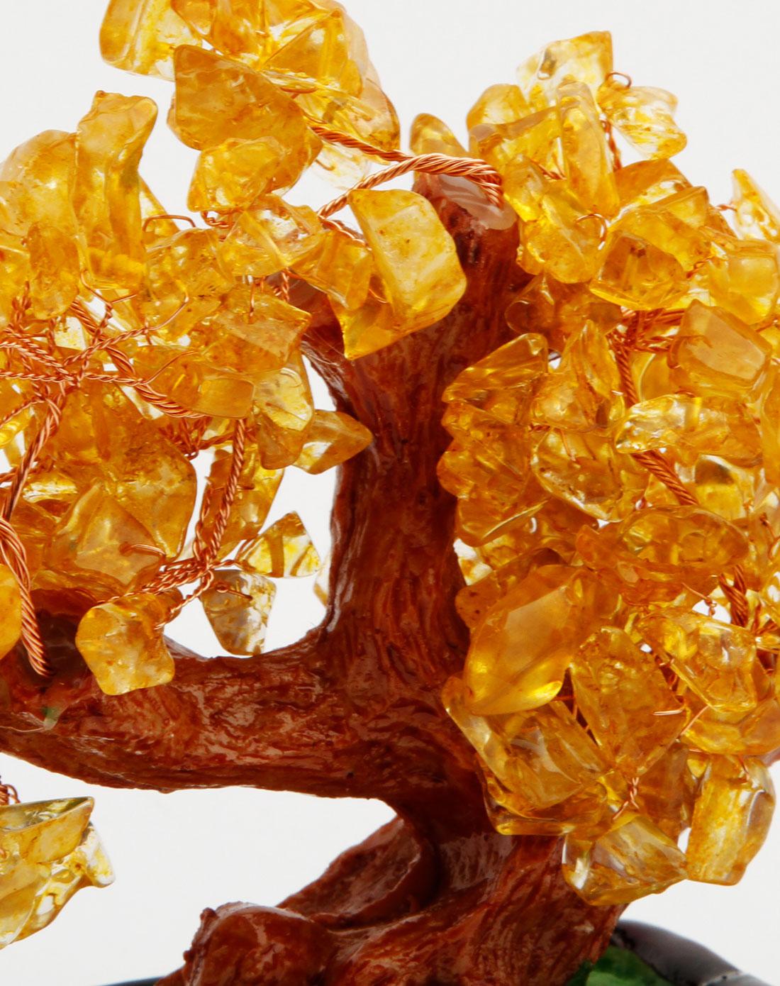 黄色玉石发财树