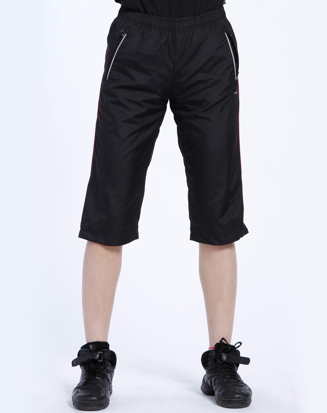 安踏anta男女装混合专场-女款 黑色运动七分裤