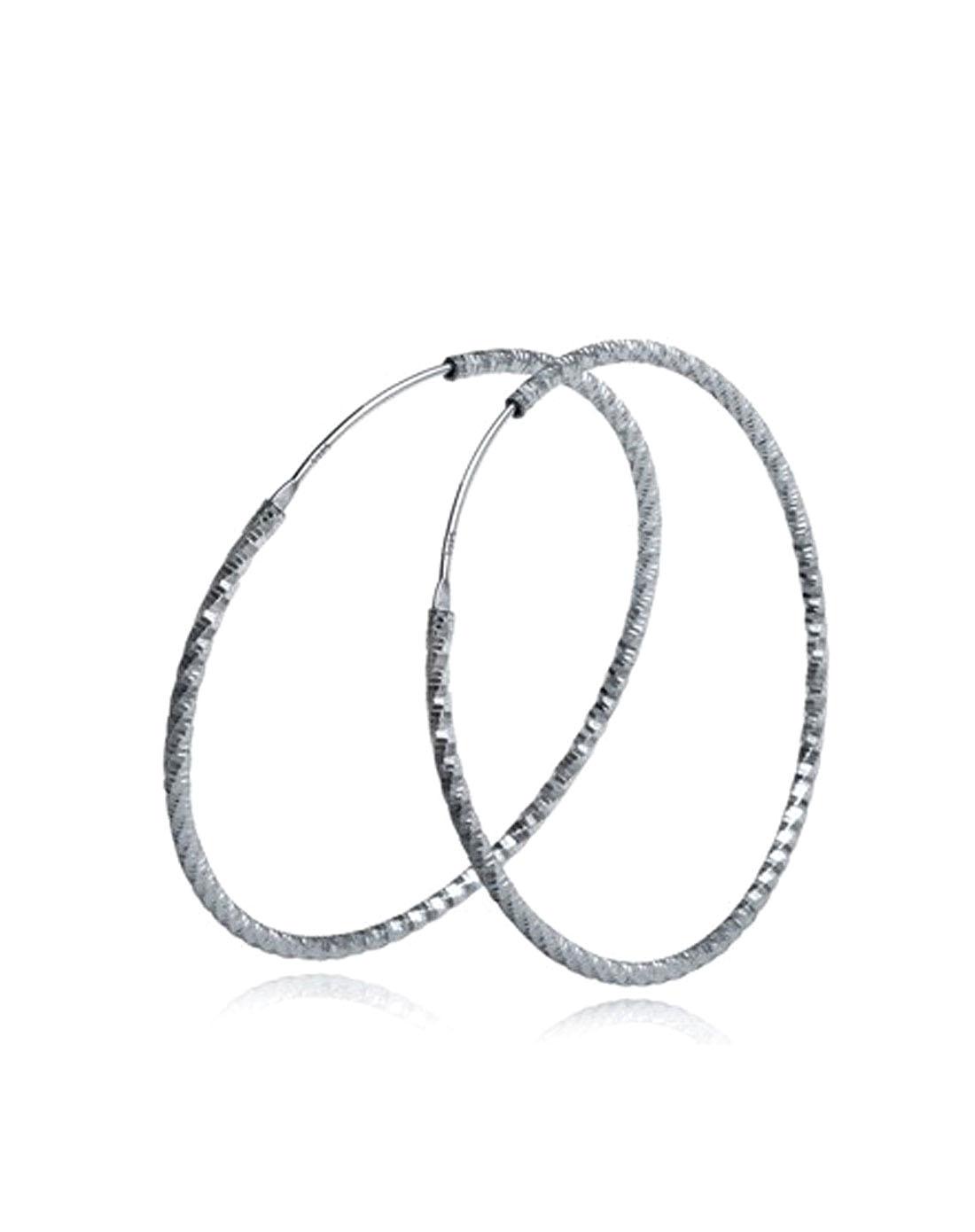 925纯银大圆圈耳环4cmx1mm空心耳圈
