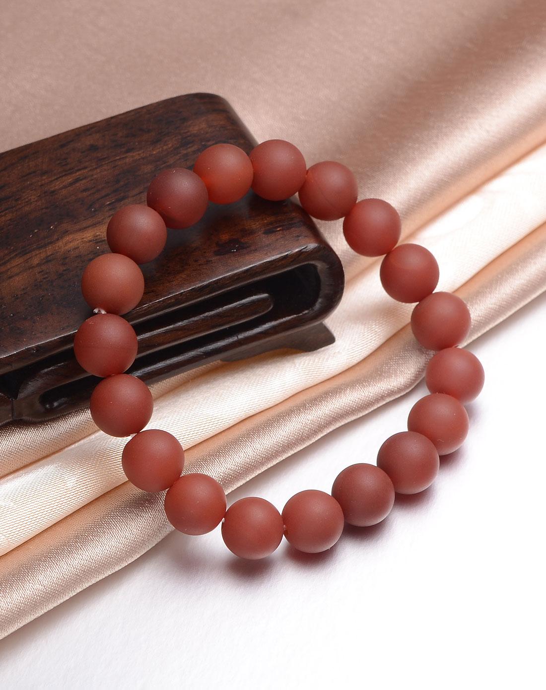 磨砂红玛瑙圆珠手链-10mm