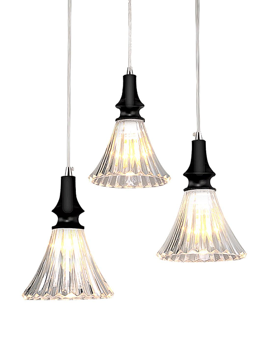 现代简约餐厅客厅卧室灯具3头吊灯
