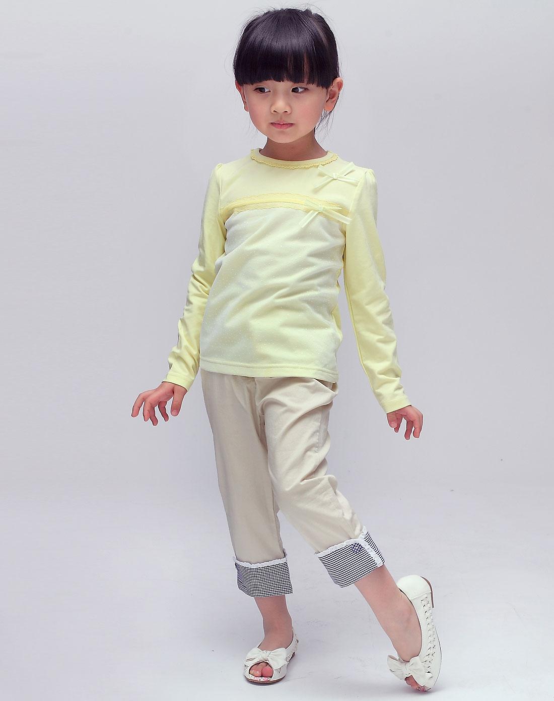 ciel男女童女童米色裤子gps1885be