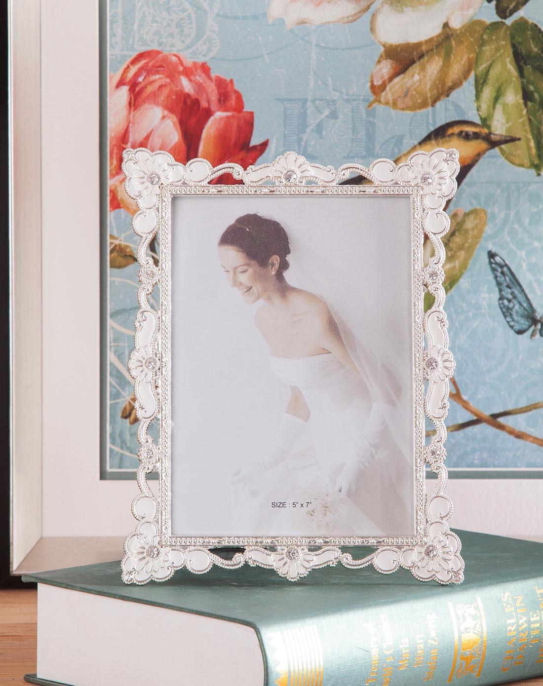 7寸高档欧式白色相框